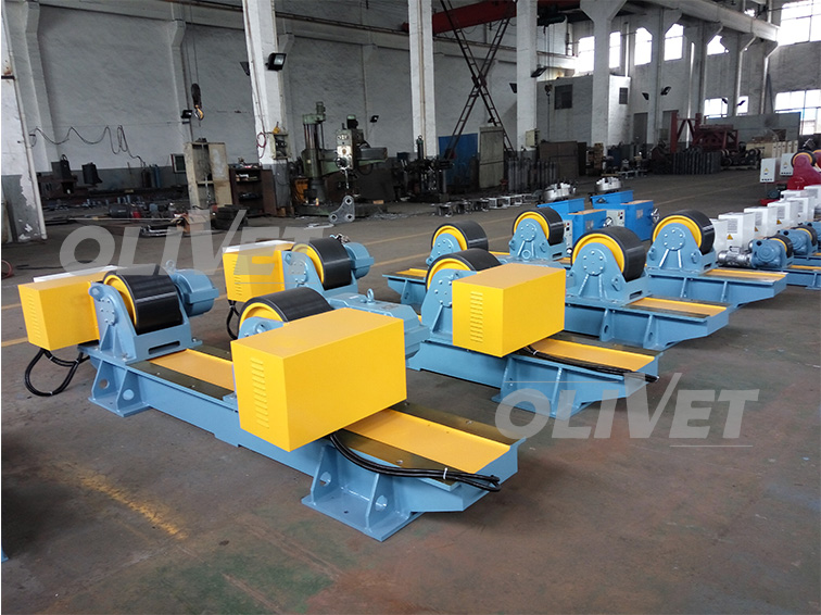 40T Capacity Adjustable Turning Rolls